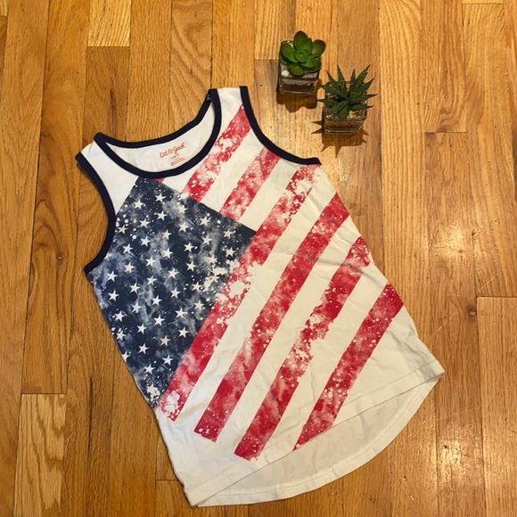 Cat & Jack American flag tank